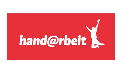 Logo der Firma Hand@rbeit