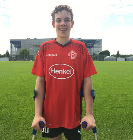 Düsseldorf Spieler Jamie Knowles