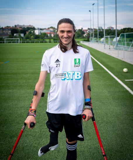 Einzelportrait Nationalspieler Hannes Morgenthaler