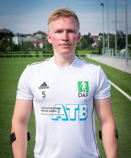 Einzelportrait Nationalspieler Marcel Herrmann